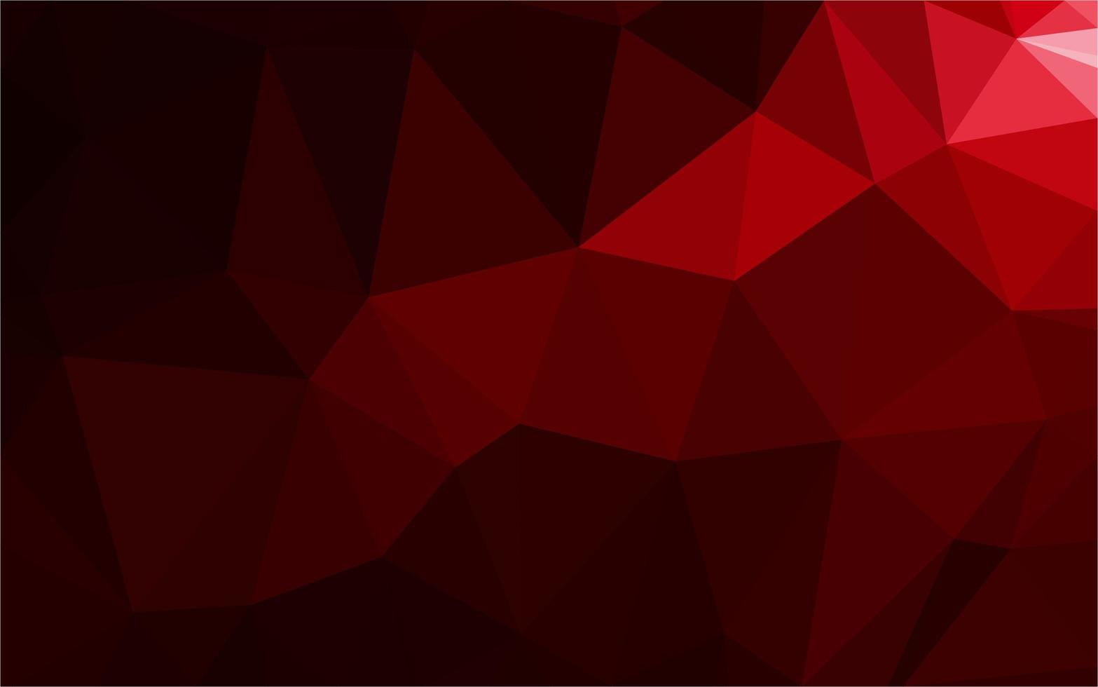Red gradient triangle pattern  vector