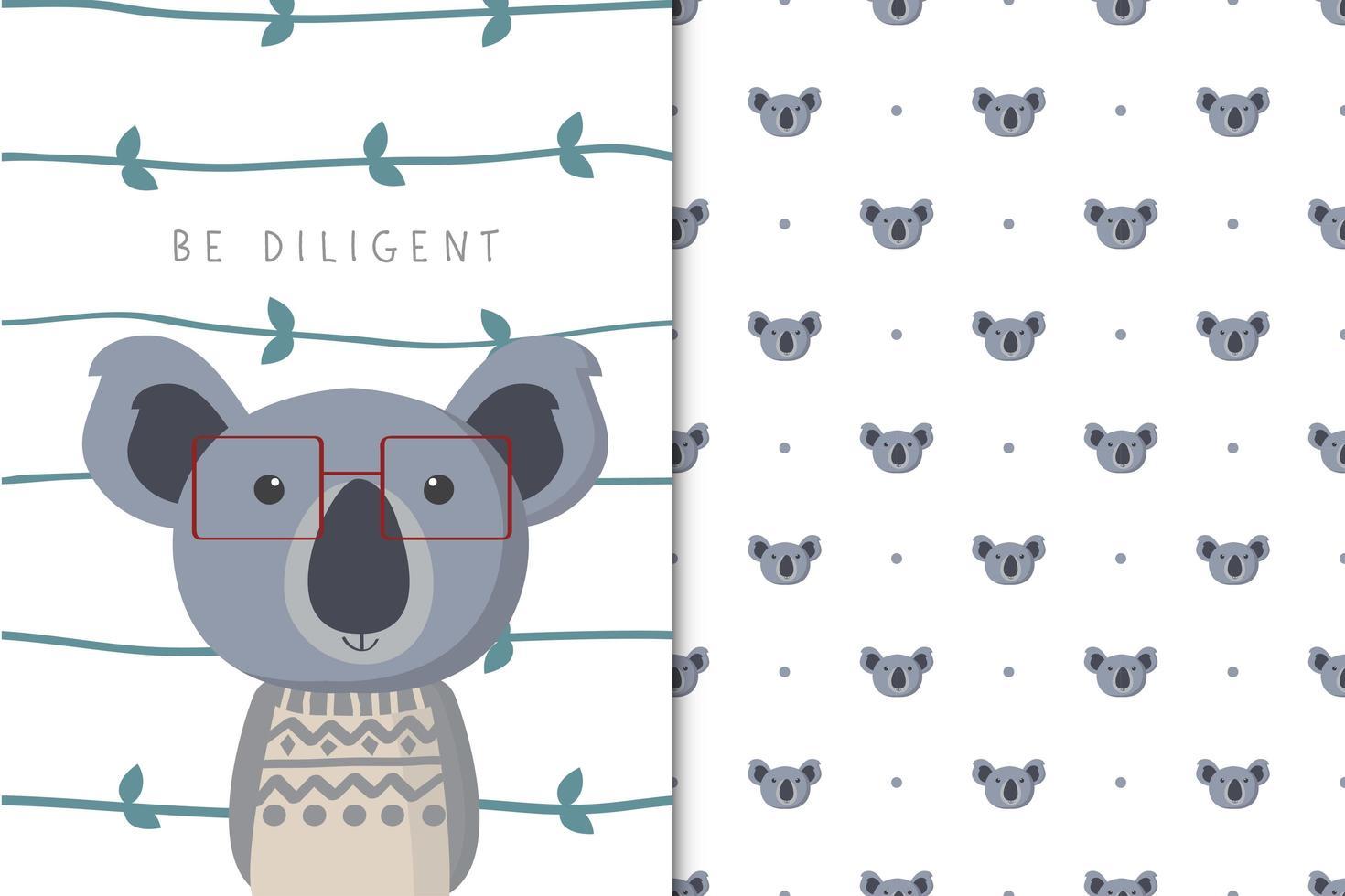 Be Diligent koala  vector