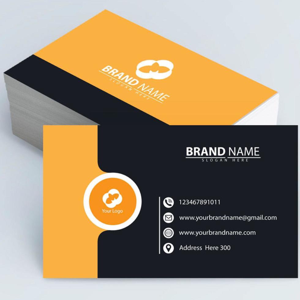 cartão laranja moderno vetor