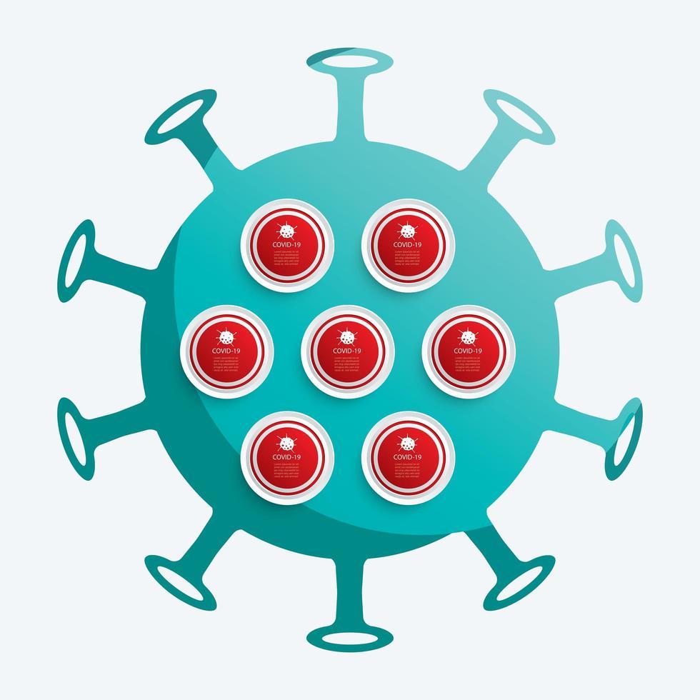 círculos de dados covid-19 vetor
