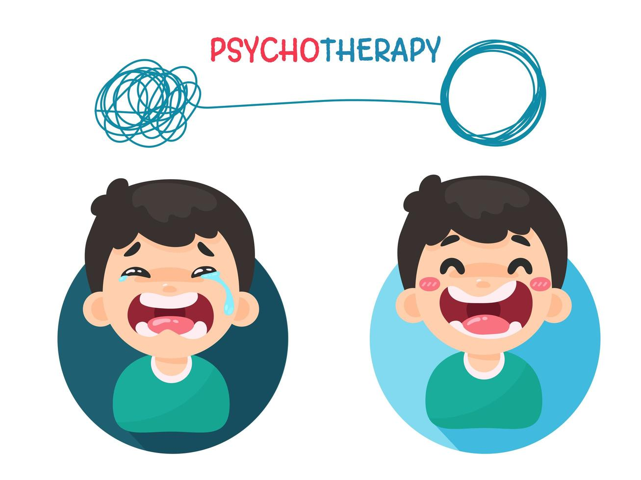 Psychotherapy thoughts with mood swings vector