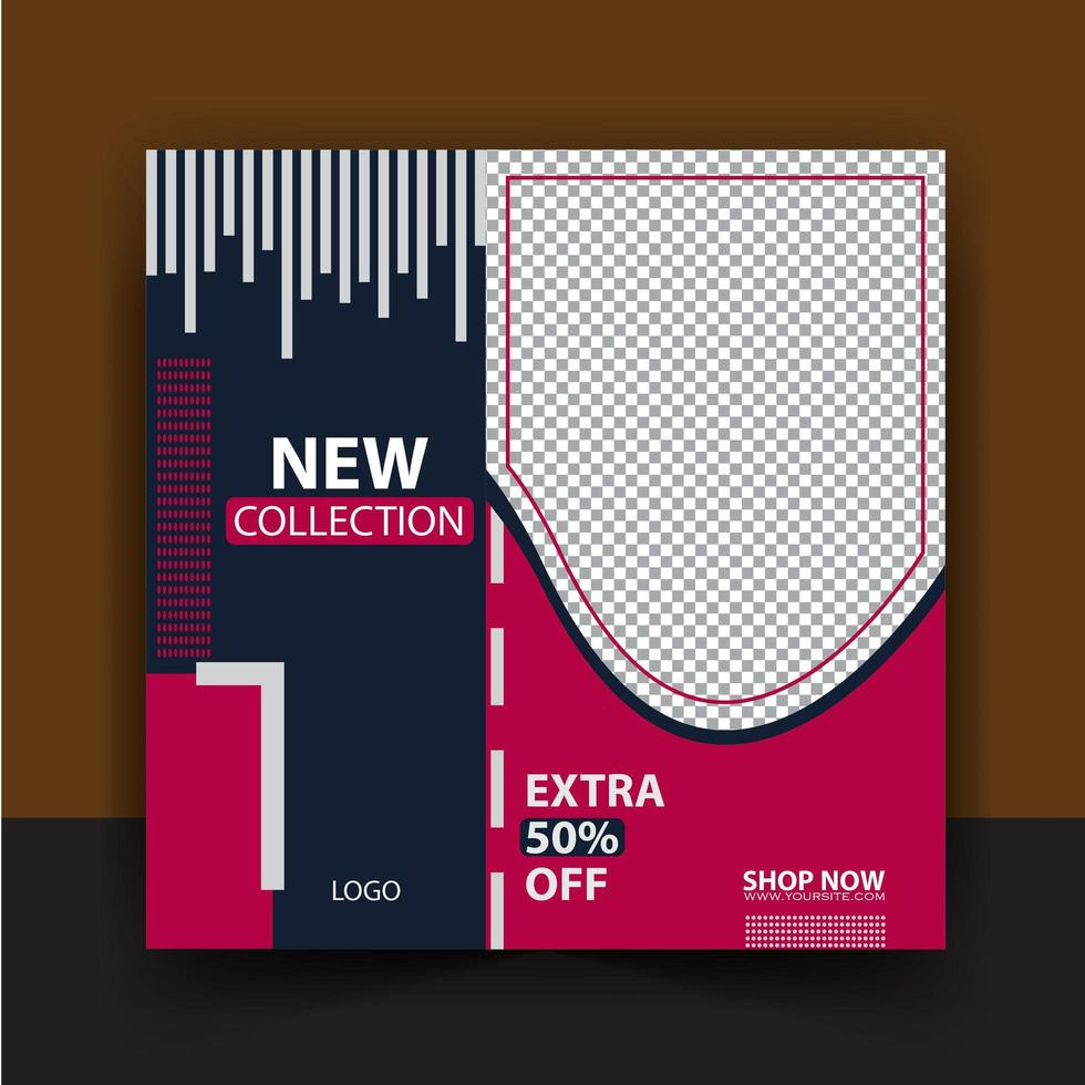 Fashion Shopping Abstract sale post  vector