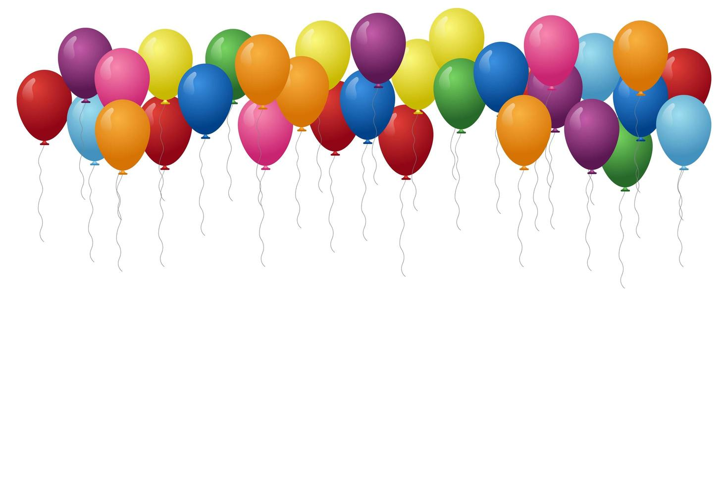 globos multicolores flotando vector
