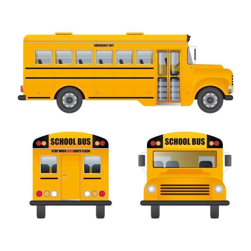 School Bus on White vector