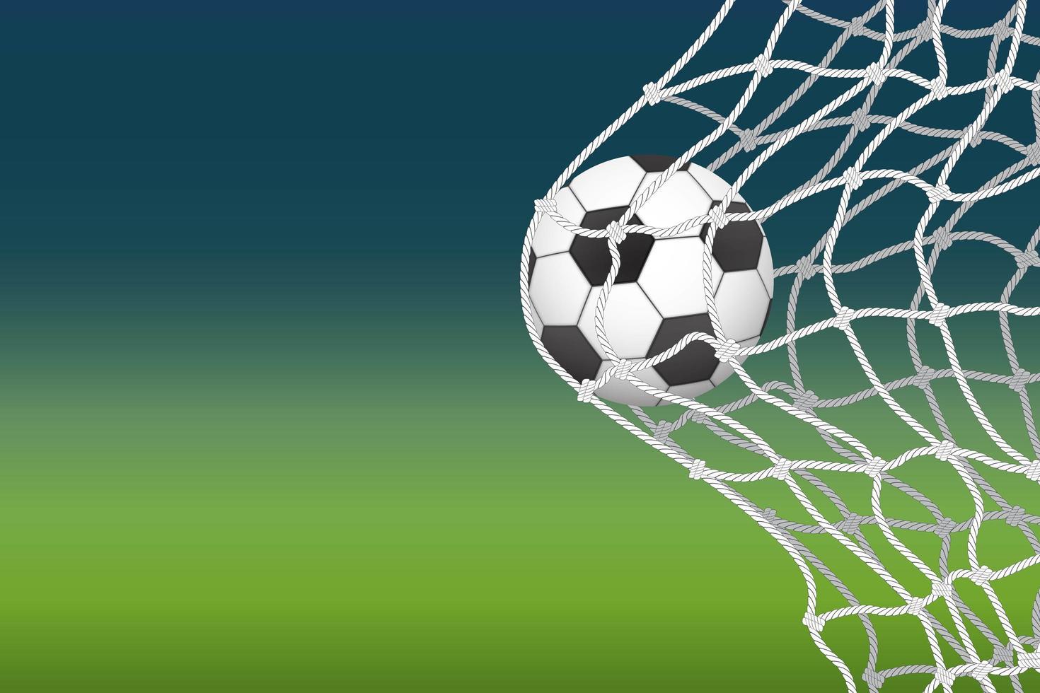 balón de fútbol en meta neta vector