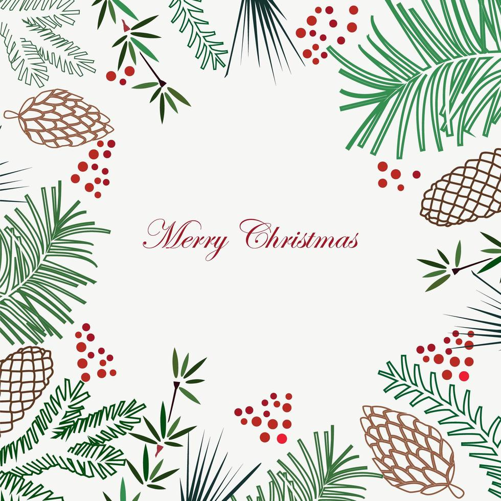 Christmas and New Year holiday background vector