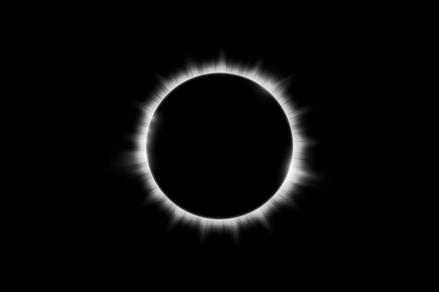 Total solar eclipse design vector