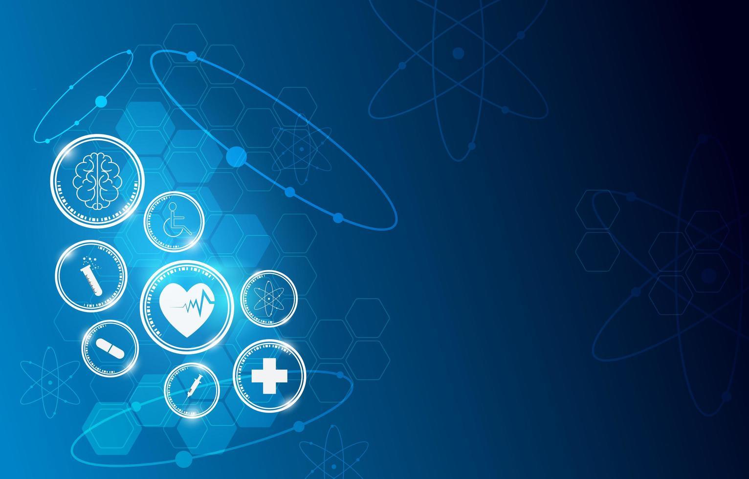 projeto de inovação circular ícone médico vetor