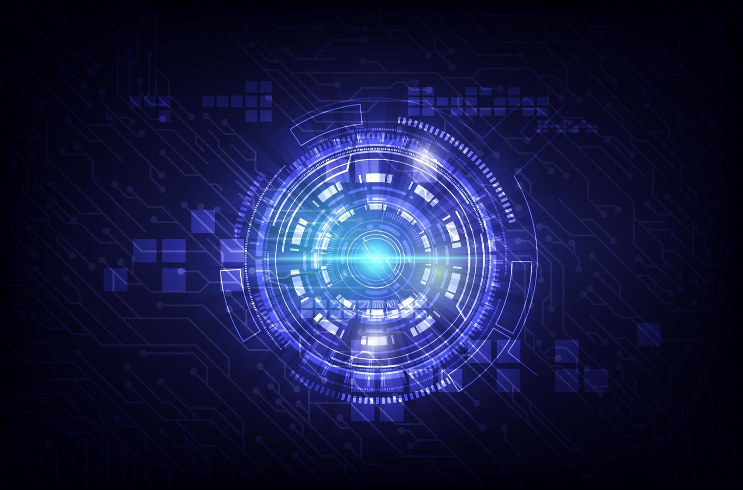 circuito morado y diseño de tecnología de internet vector