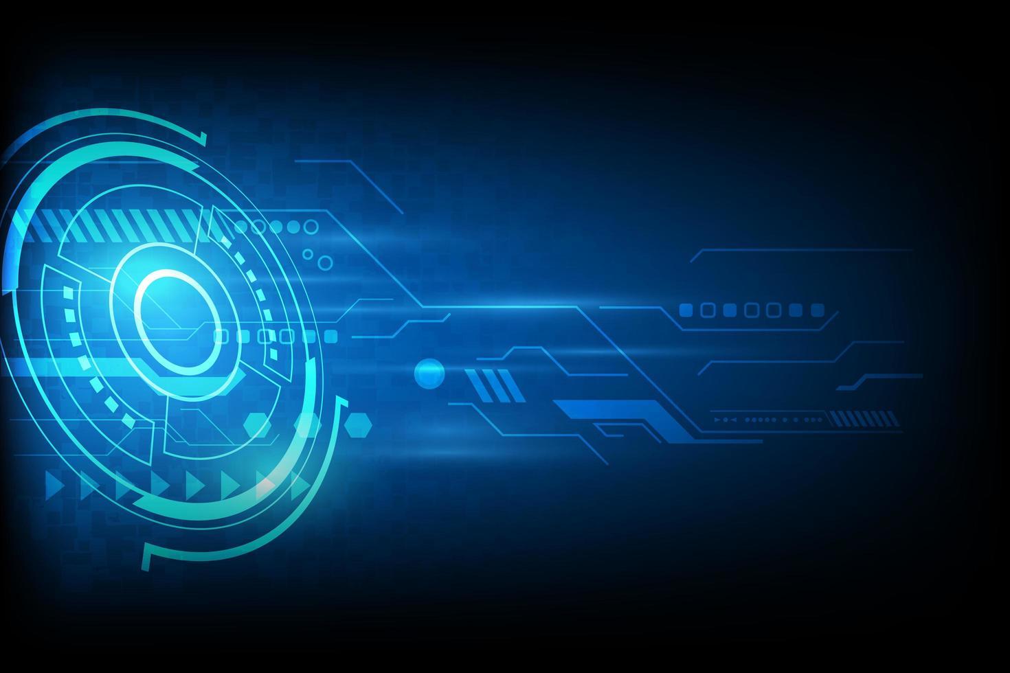 design futurista de tecnologia de automação azul vetor
