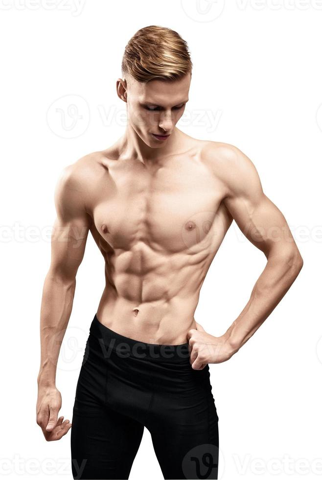 Man with muscular torso photo