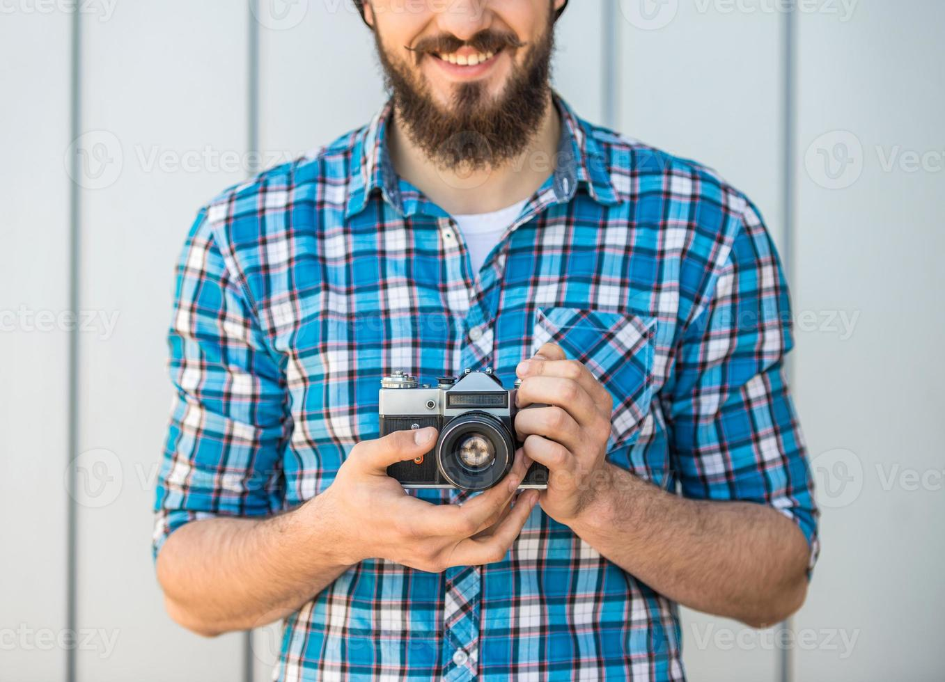Man making picture photo