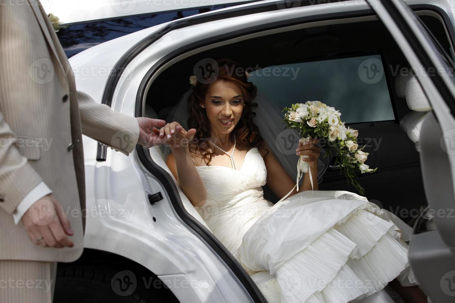 Portrait of a pretty bride photo
