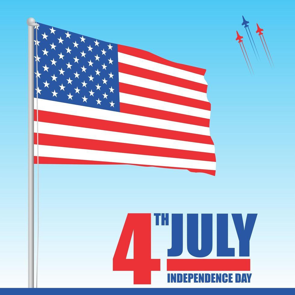 4 de julho celebração do dia da independência dos eua vetor