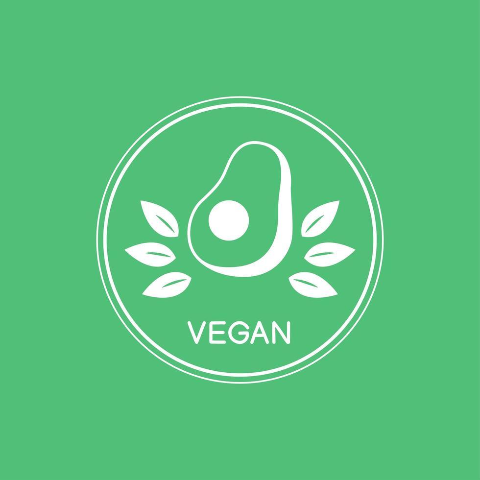 logotipo vegan verde vetor