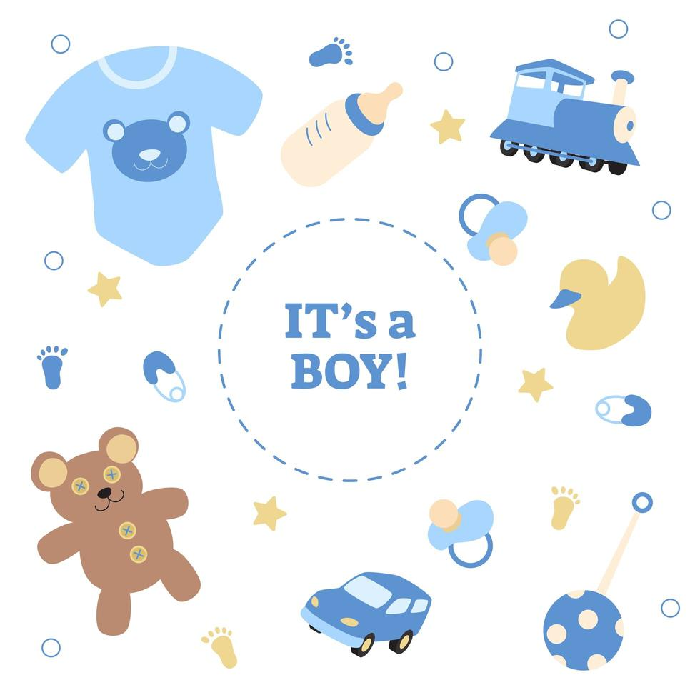 Gender reveal of a boy vector