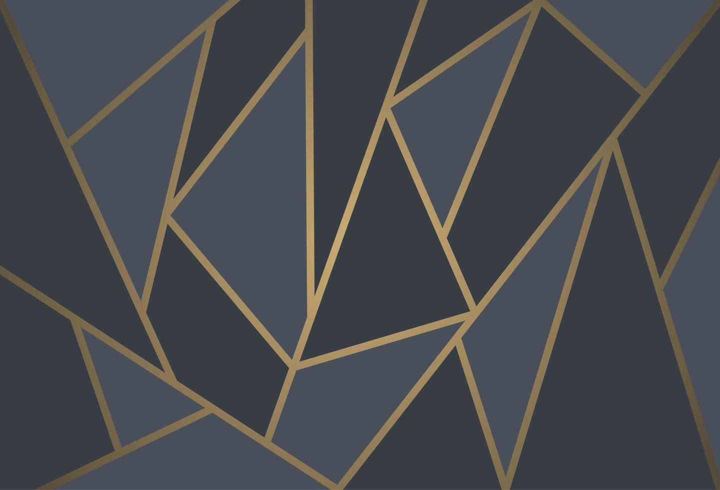 Modern mosaic wallpaper in black and gold vector