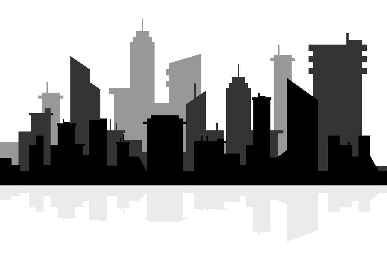 Silhouette skyline illustration vector