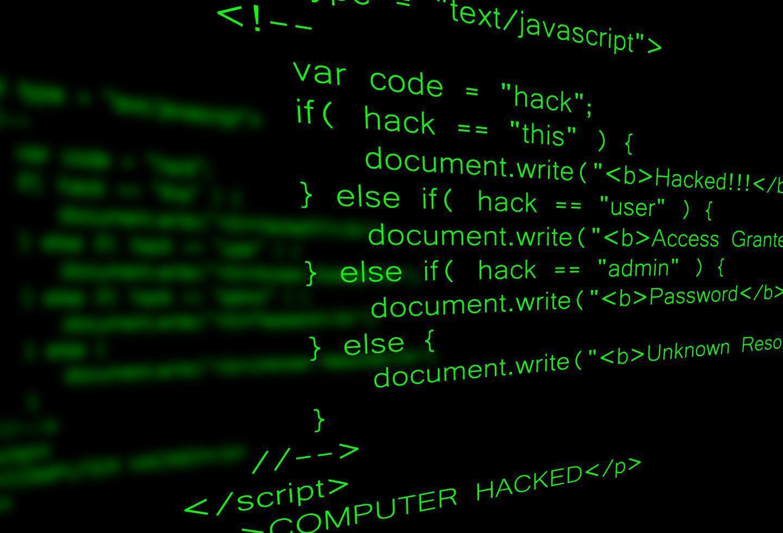 Computer hacking code  vector