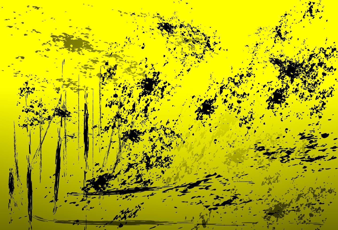 Distressed yellow background vector