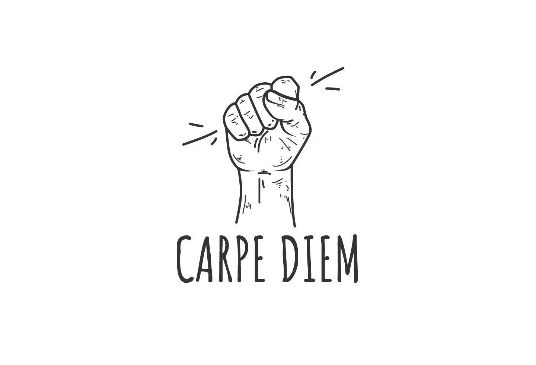 Carpe diem motivational icon vector
