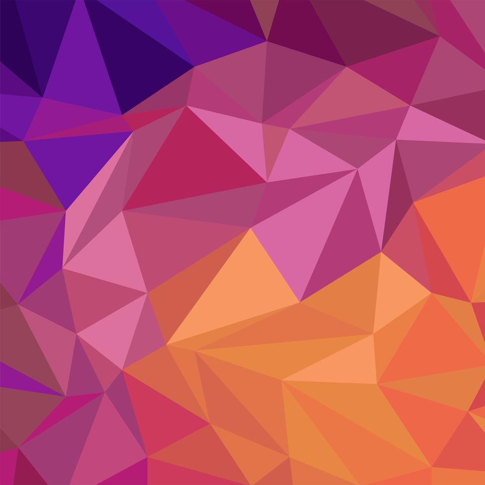 papel de parede com polígonos em cores gradientes vetor