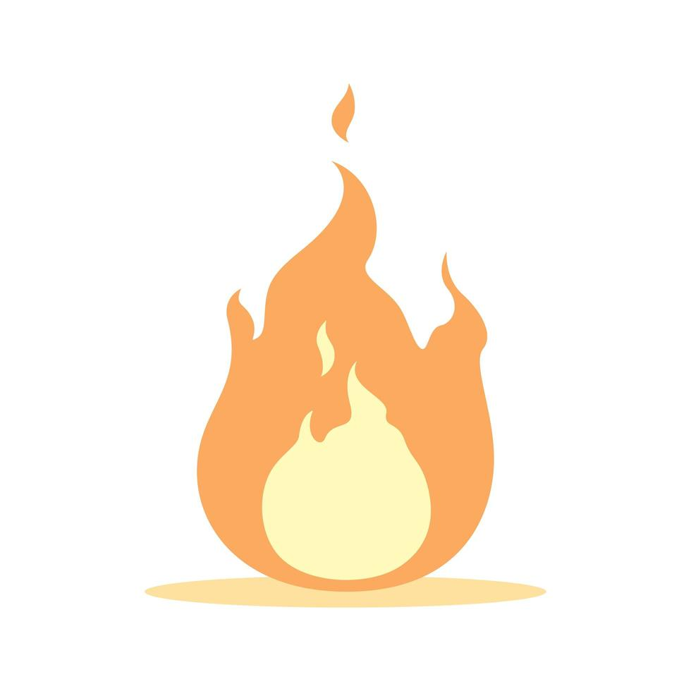 Single flame isolated graphic illustration vector