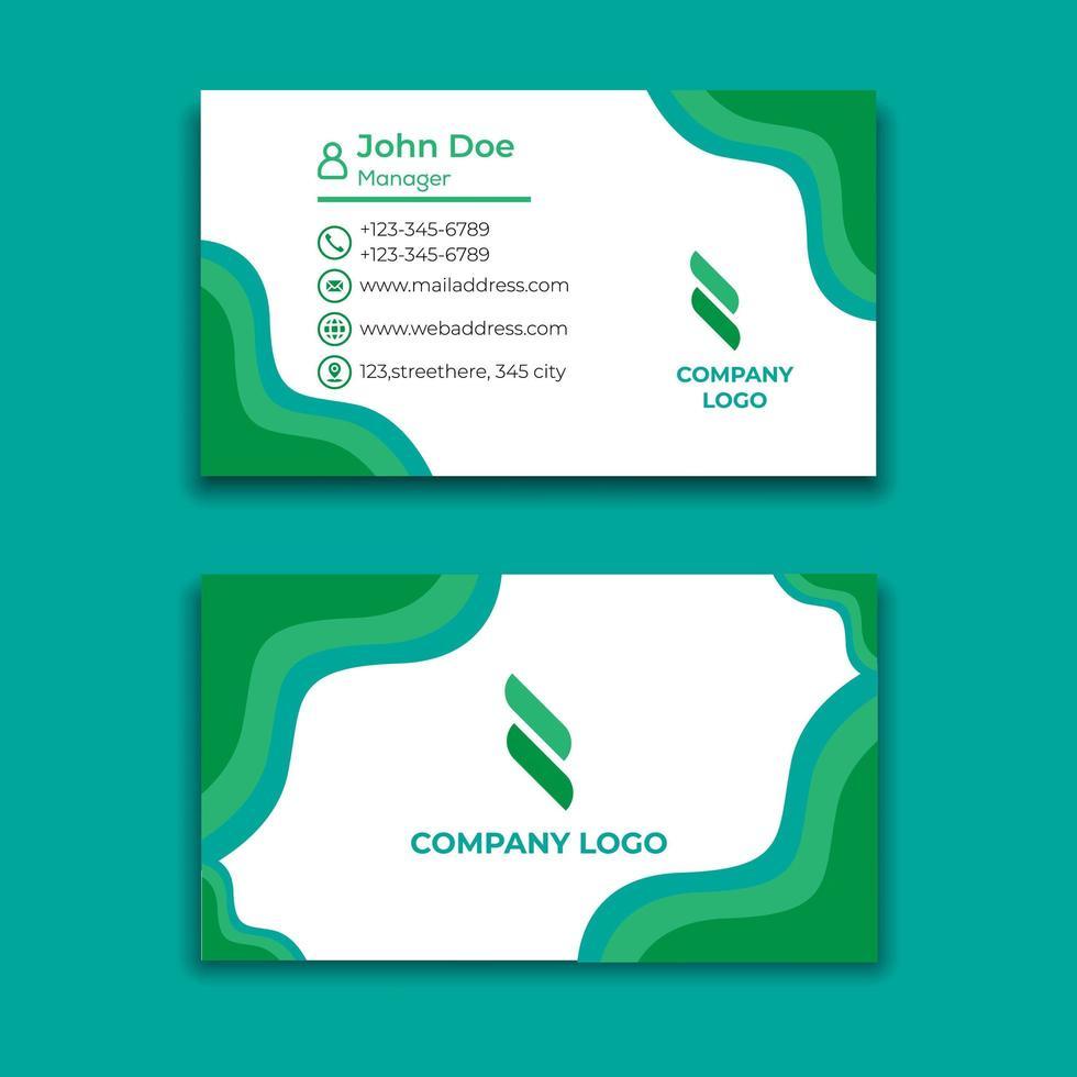 modelo de design de cartão ondulado verde vetor