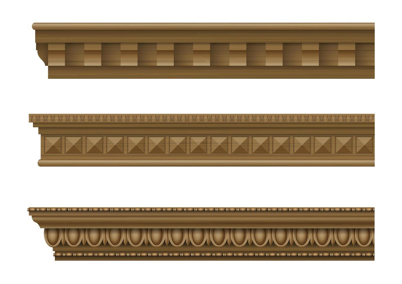 cornisas clásicas para las paredes de edificios vector