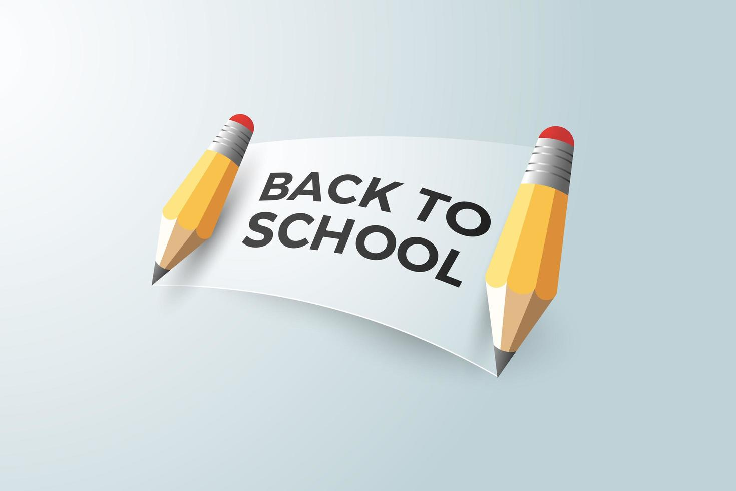 Back to school poster with pencils and banner vector