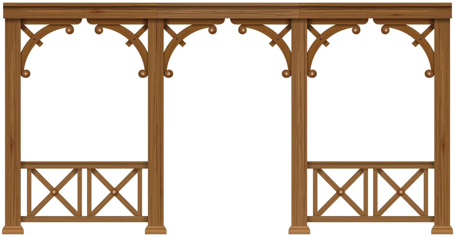 terraza de madera clásica vector