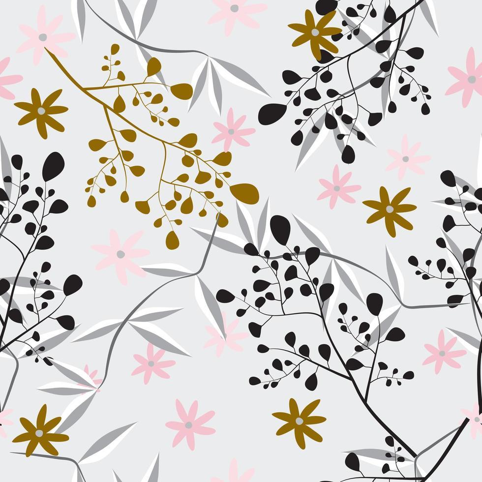 teste padrão floral feminino vetor