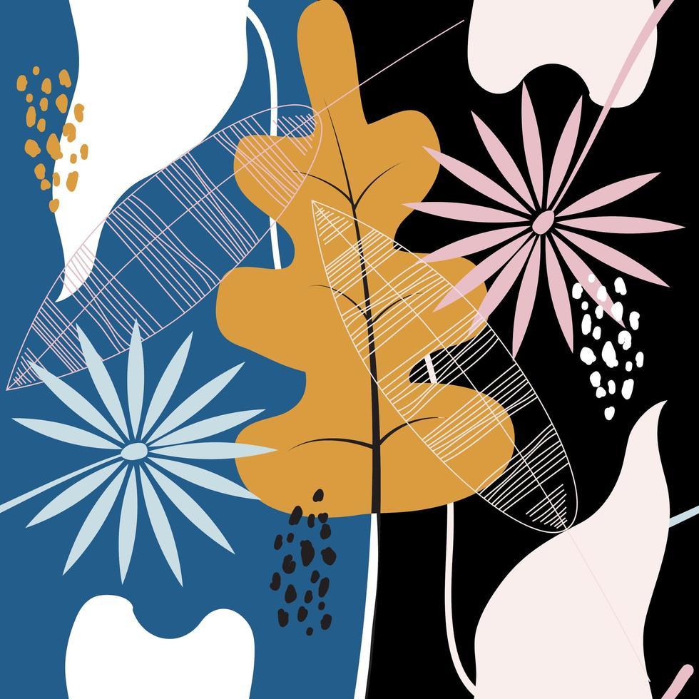 teste padrão floral abstrato moderno vetor