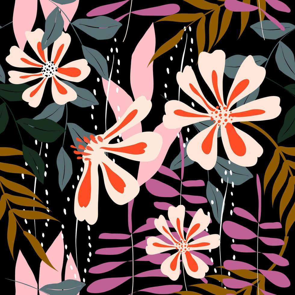 padrão sem emenda floral colorido vetor