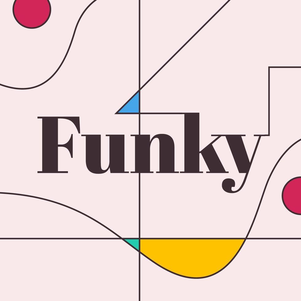 ilustração de estilo de palavra funky tipografia vetor