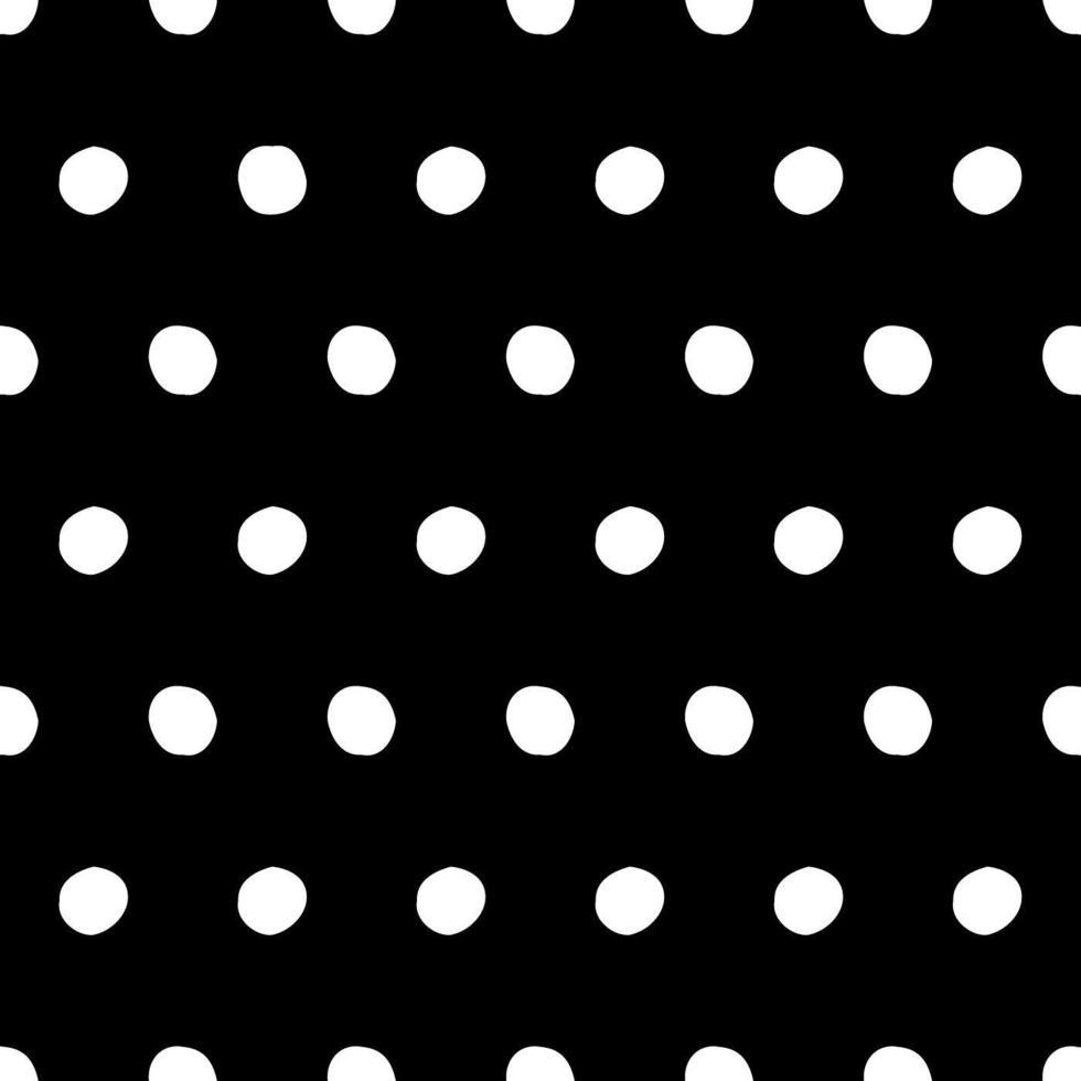 vetor de padrão de bolinhas sem costura preto e branco