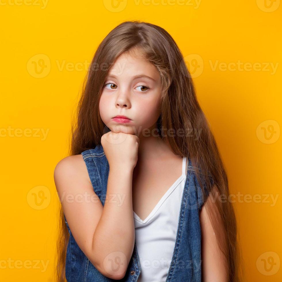 Young sad girl photo