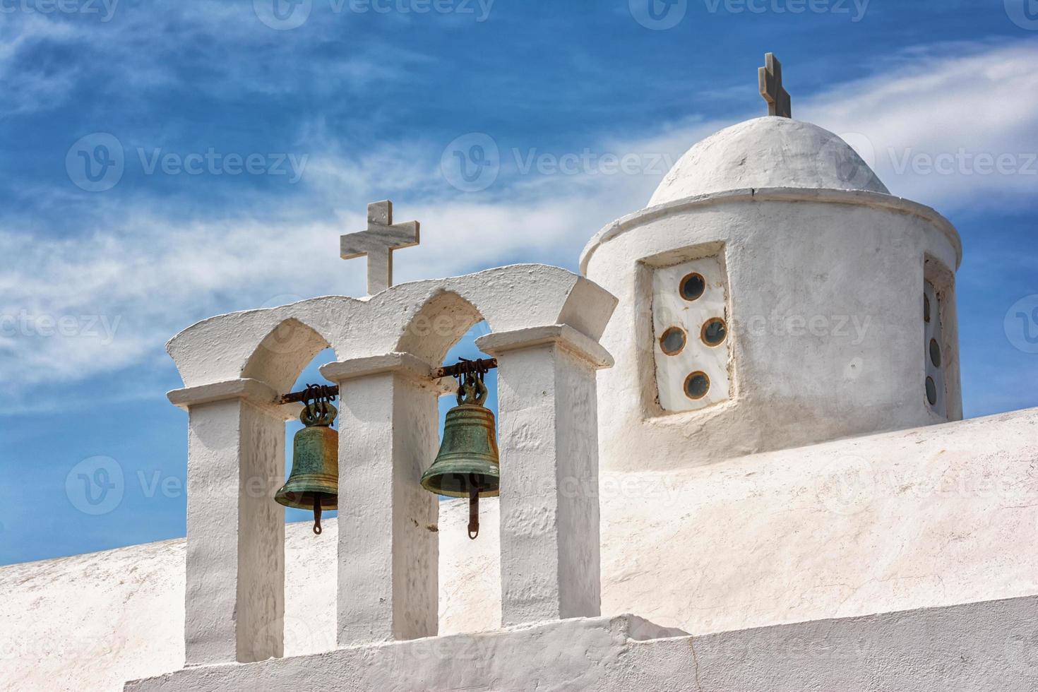 Iglesia de panagia thalassitra, isla de milos, grecia foto