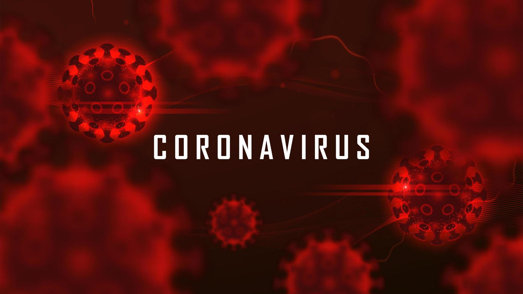 Coronavirus cell structure floating in blood vector