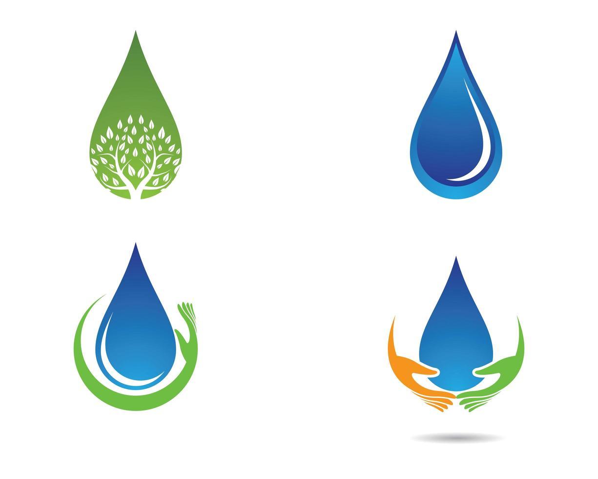 vector de gota de agua