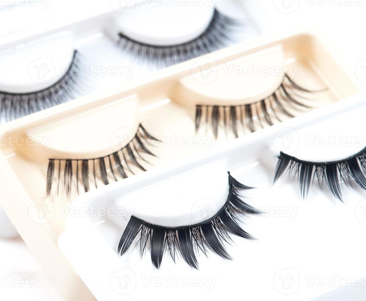false eyelashes isolated photo