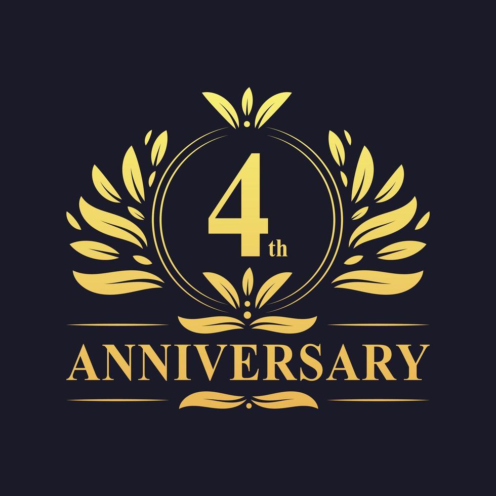 4th Anniversary Gold Logo