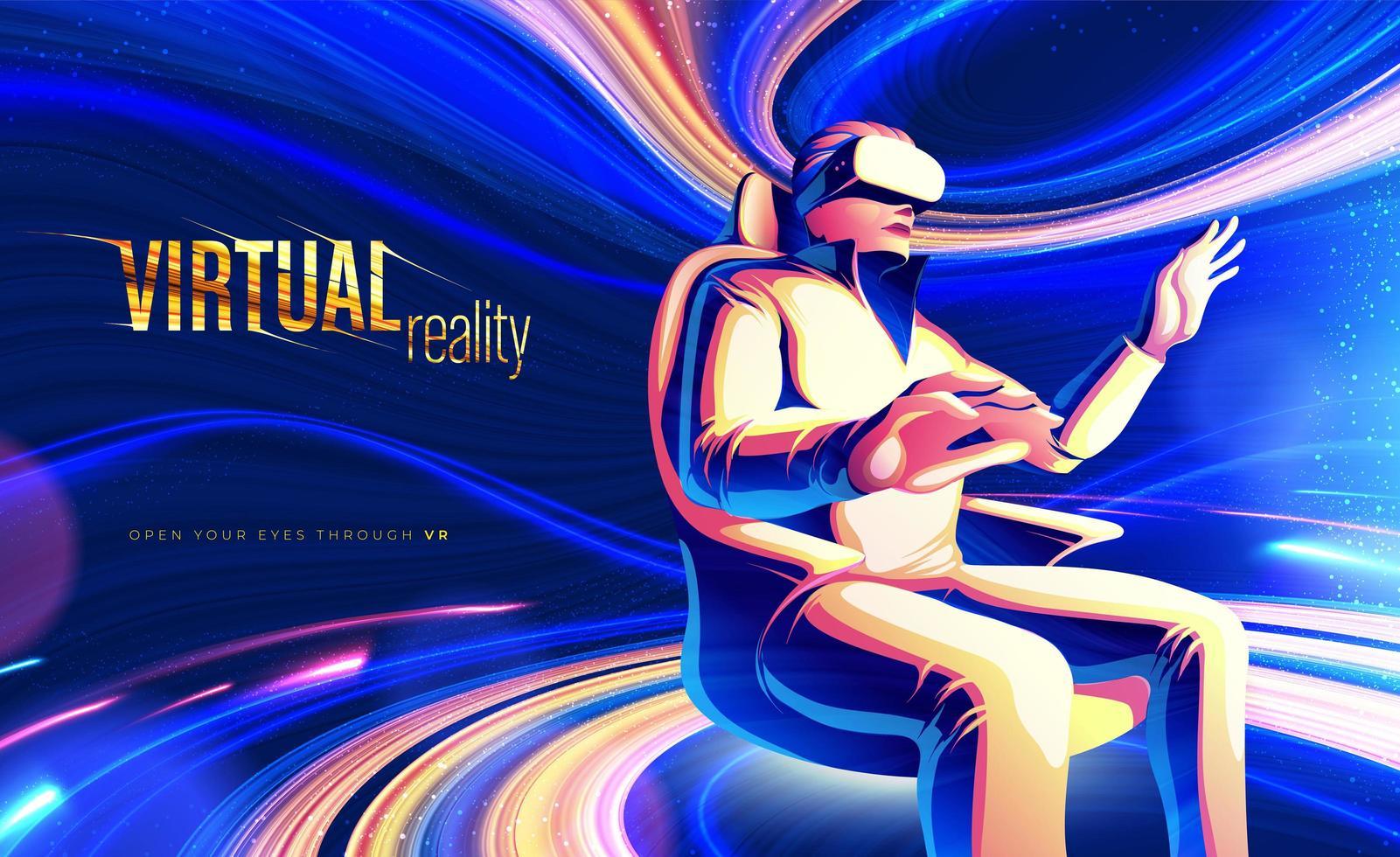 diseño de tema de realidad virtual vector