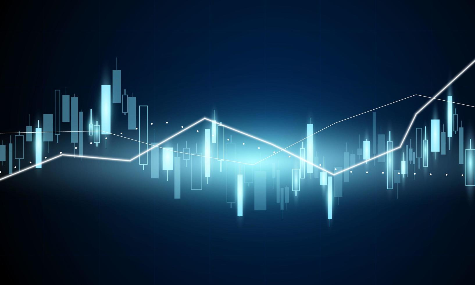 Stock market graph for financial business vector