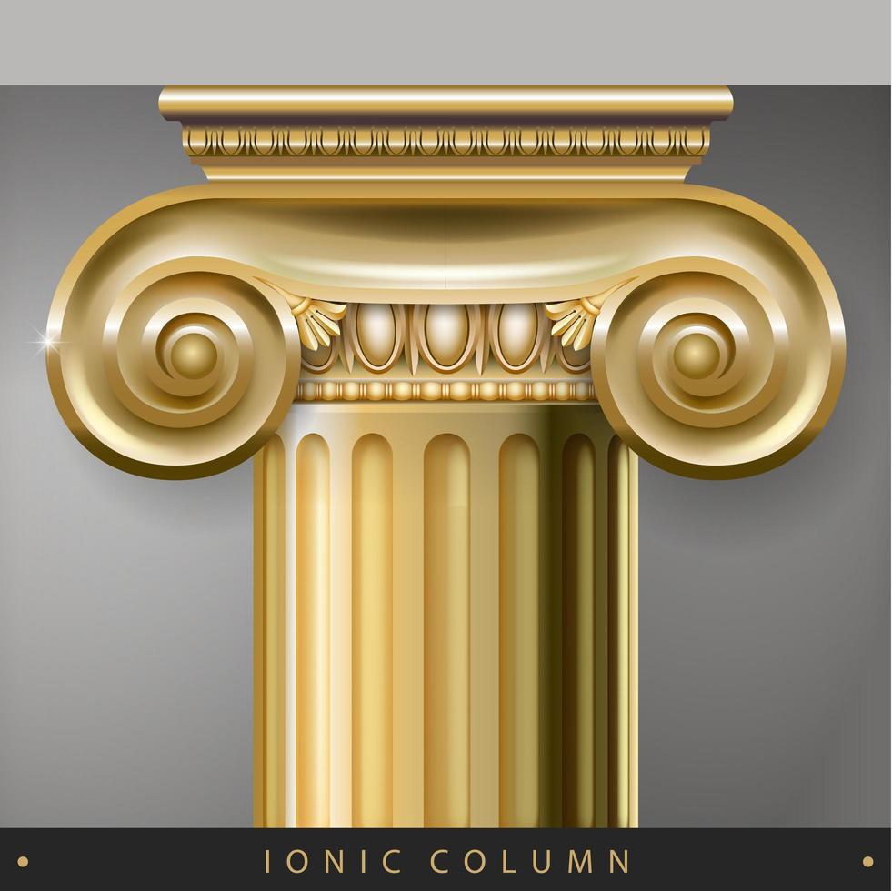 Golden capital of the Corinthian column vector