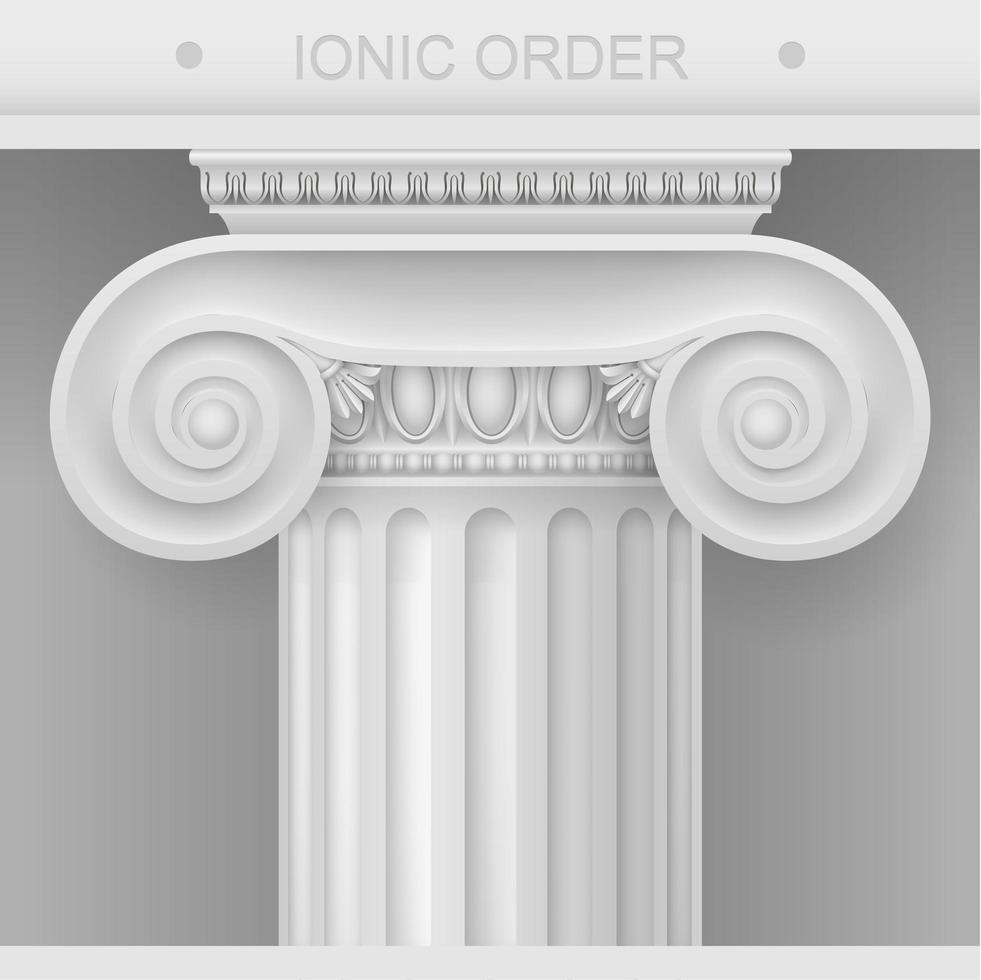 White Capital of the Ionic column vector