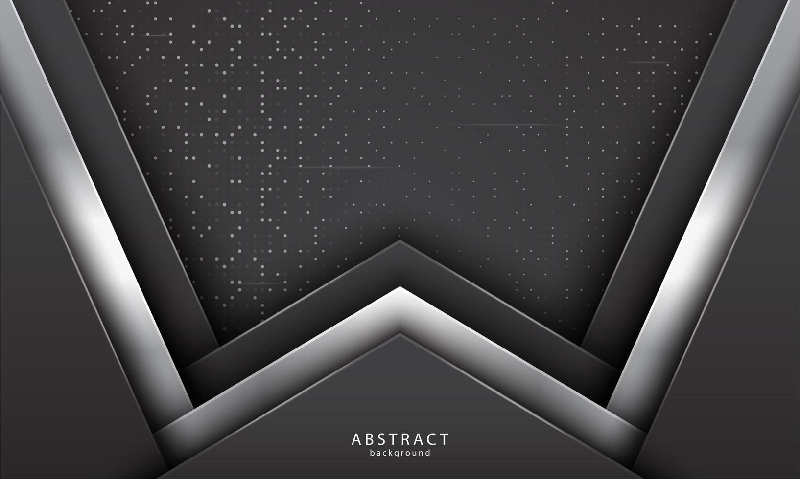 formas superpuestas realistas con color negro y plateado vector