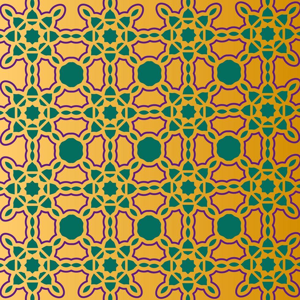 Golden gradient Islamic pattern design vector