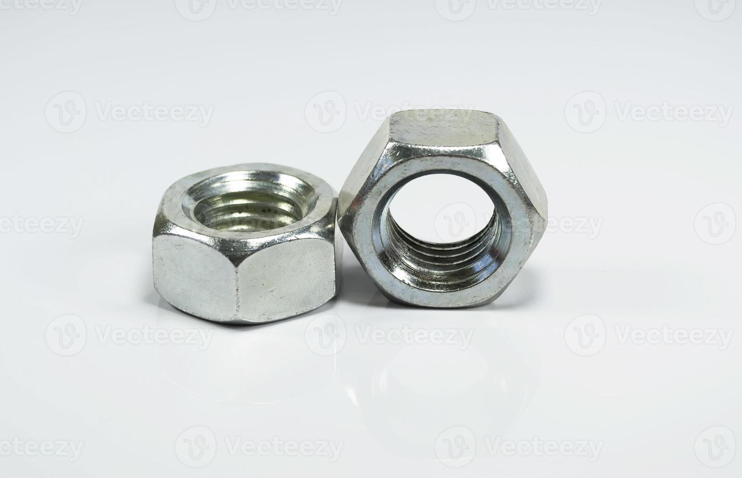 Two hexagonal nuts photo