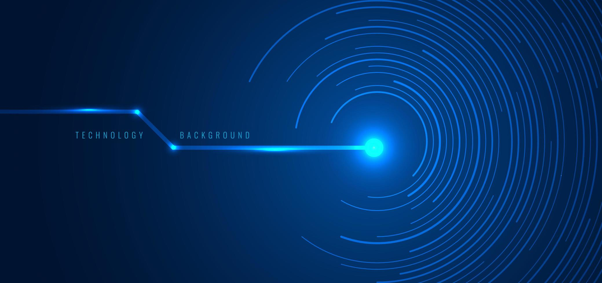 Abstract Technology Futuristic Concept Blue Circular Lines vector